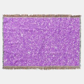 Brillo de lujo del diamante del brillo púrpura manta tejida