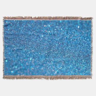 Brillo de lujo del diamante manta tejida