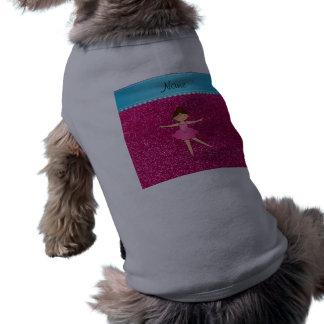 Brillo de neón personalizado de las rosas fuertes camisas de mascota