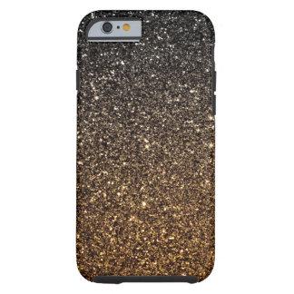 Brillo de Ombre del oro falso Funda De iPhone 6 Tough