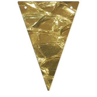 Brillo de oro del oro brillante festivo elegante banderines