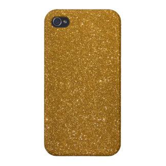 Brillo de oro iPhone 4 cárcasas