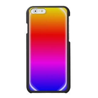 Brillo del arco iris funda cartera para iPhone 6 watson