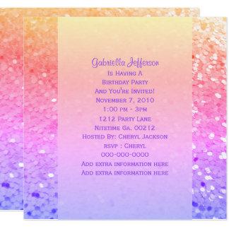Brillo del arco iris: Invitación del fiesta