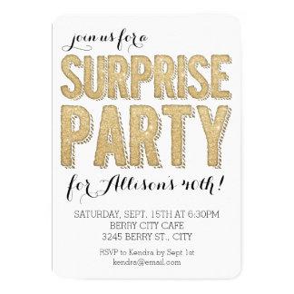 Brillo del fiesta de sorpresa invitación 12,7 x 17,8 cm
