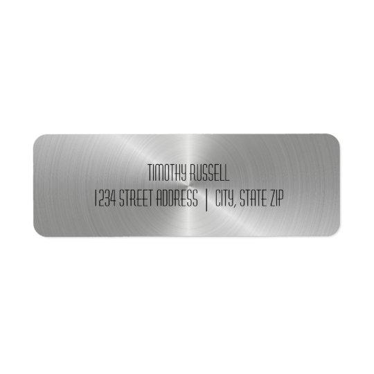 Brillo del metal plateado - etiquetas de dirección