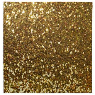 Brillo del oro servilleta de tela