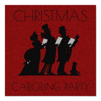 Brillo del Victorian del fiesta de Caroling del Invitación 13,3 Cm X 13,3cm