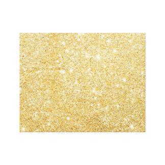 Brillo elegante de oro de la chispa impresión en lienzo