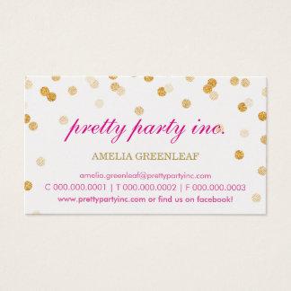 Brillo elegante del oro del rosa del confeti de la tarjeta de negocios