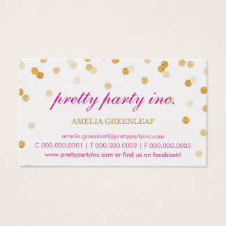 Brillo elegante del oro del rosa del confeti de la tarjeta de visita