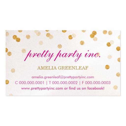 Brillo elegante del oro del rosa del confeti de la plantillas de tarjetas personales
