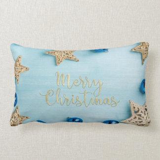 Brillo festivo de las Felices Navidad de las Cojín Lumbar