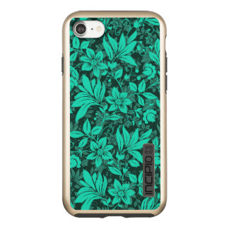 Brillo floral de DualPro del iPhone 7, oro Funda DualPro Shine De Incipio Para iPhone 8/7