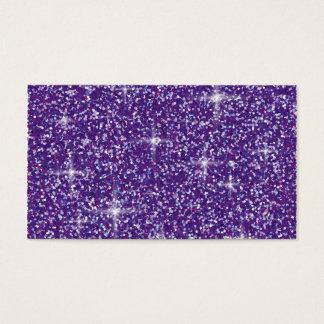 Brillo iridiscente púrpura tarjeta de negocios