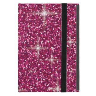 Brillo iridiscente rosado funda para iPad mini