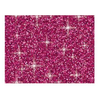 Brillo iridiscente rosado postal