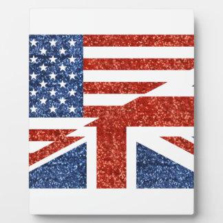 brillo los E.E.U.U. británico Placa Expositora