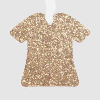 Brillo metálico del oro color de rosa de cobre adorno