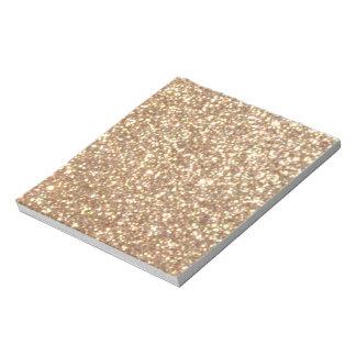 Brillo metálico del oro color de rosa de cobre bloc de notas
