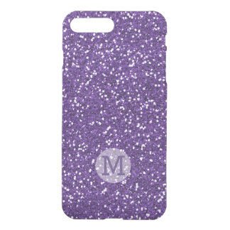 Brillo púrpura brillante con monograma funda para iPhone 7 plus