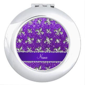 Brillo púrpura del añil conocido de encargo de la espejos compactos