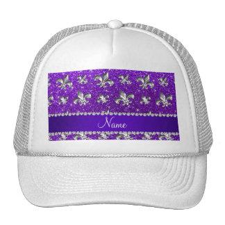 Brillo púrpura del añil conocido de encargo de la gorros bordados