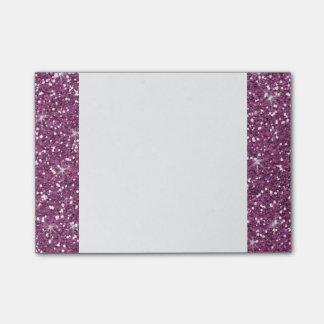 Brillo púrpura impreso notas post-it®