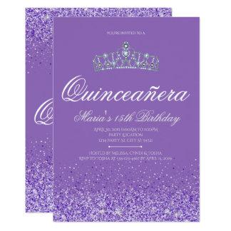 Brillo púrpura perfecto, invitaciones de