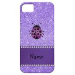 Brillo púrpura personalizado de la mariquita púrpu iPhone 5 Case-Mate coberturas