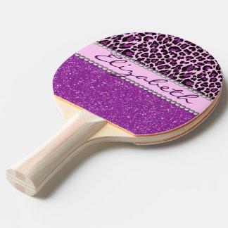 Brillo púrpura personalizado del estampado pala de ping pong