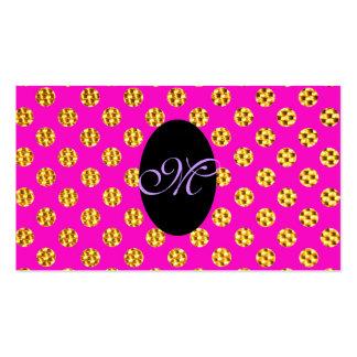 Brillo púrpura rosado femenino de tarjetas de visita