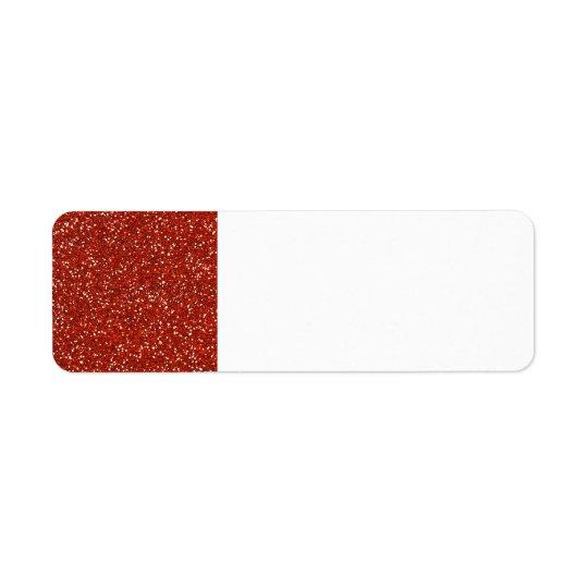 Brillo   rojo elegante etiquetas de remite
