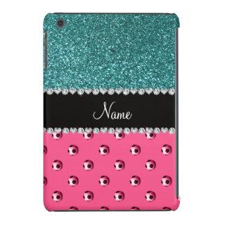 Brillo rosado conocido de encargo de la turquesa fundas de iPad mini