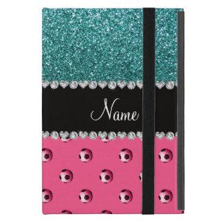 Brillo rosado conocido de encargo de la turquesa iPad mini fundas
