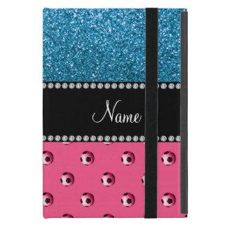 Brillo rosado conocido de encargo del azul de iPad mini protector