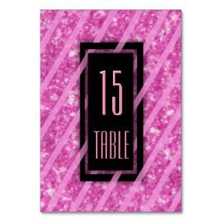Brillo rosado moderno del número el | de la tabla