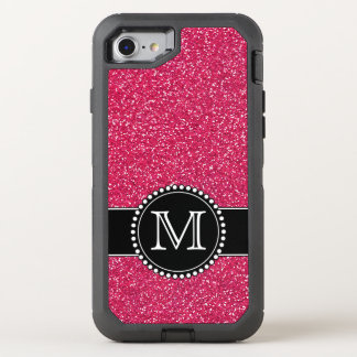 Brillo rosado Otterbox con monograma Funda OtterBox Defender Para iPhone 7