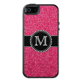 Brillo rosado Otterbox con monograma Funda Otterbox Para iPhone 5/5s/SE