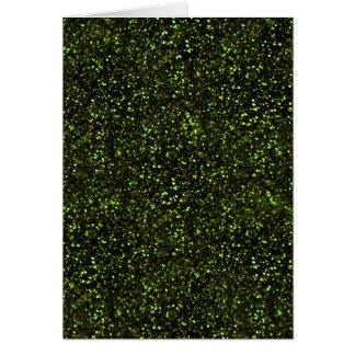 Brillo verde oscuro tarjeta pequeña