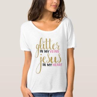 Brillo y camiseta del novio de Jesús
