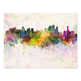 Brisbane skyline in watercolor background foto