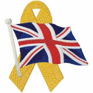 Británico - apoye a nuestras tropas chaqueta