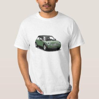 Británicos que compiten con la mini camiseta