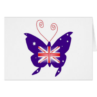 British Diva Butterfly Greeting Cards