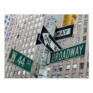 Broadway y 44.a - postal de New York City