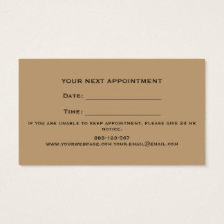 Brocha de afeitar de la maquinilla de afeitar tarjeta de visita