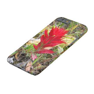 Brocha india roja del caso de IPhone 6/6s Funda Barely There iPhone 6
