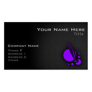 Brocha púrpura violeta del artista tarjeta de negocio