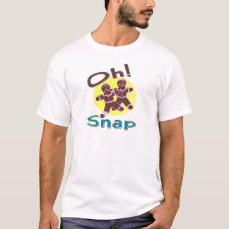 Broche de los hombres de pan de jengibre oh camiseta
